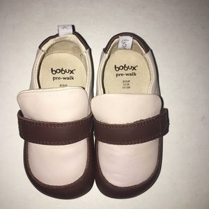 Bobux Pre-Walk Loafer Beige/Chocolate Size 4.5